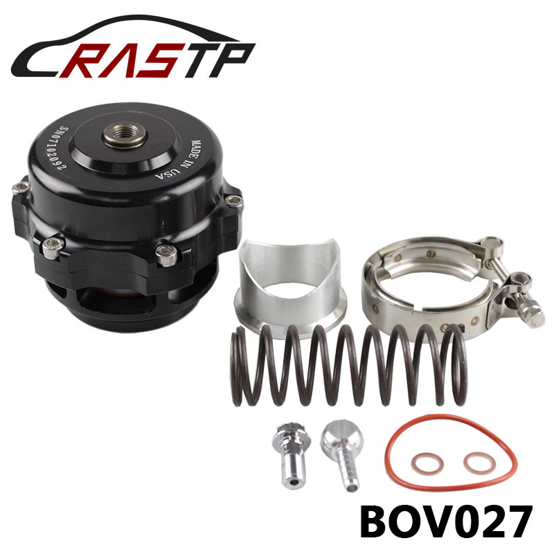 RASTP-Universal Jdm 50mm V Band Blow Off Valve BOV Q Typer w/ Weld On Aluminum Flange With Logo RS-BOV027 ...