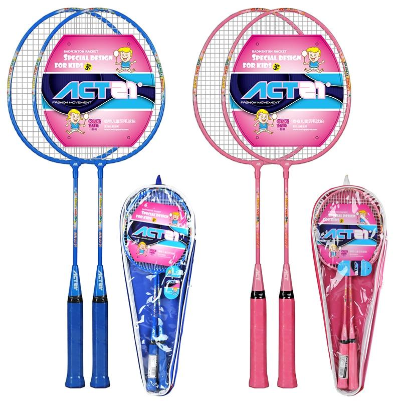 ACTEI 2250 Children's Badminton Racket With Bag Carbon Fiber Raket Racquet Padel Raqueta