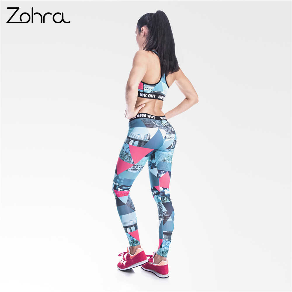 b07f7595926e ... Zohra Retro Graphics Women Legging Triangle Graffiti Printing Leggings  Fashion Slim High Waist Woman Pants