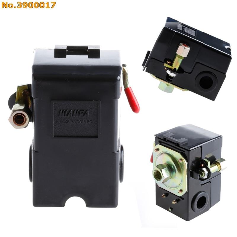 1 Port Air Compressor Pressure Control Switch 95-125PSI On/off Lever AC 220V 1 port air compressor pressure control switch 95 125psi on off lever ac 220v drop shipping support