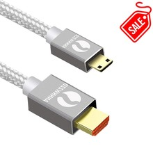 цена на Mini HDMI to HDMI Cable 1m 2m 3m 5m Male to Male High Speed HDMI Cable 4K 3D 1080P for Tablet Camcorder MP4 DVD Mini HDMI Cable