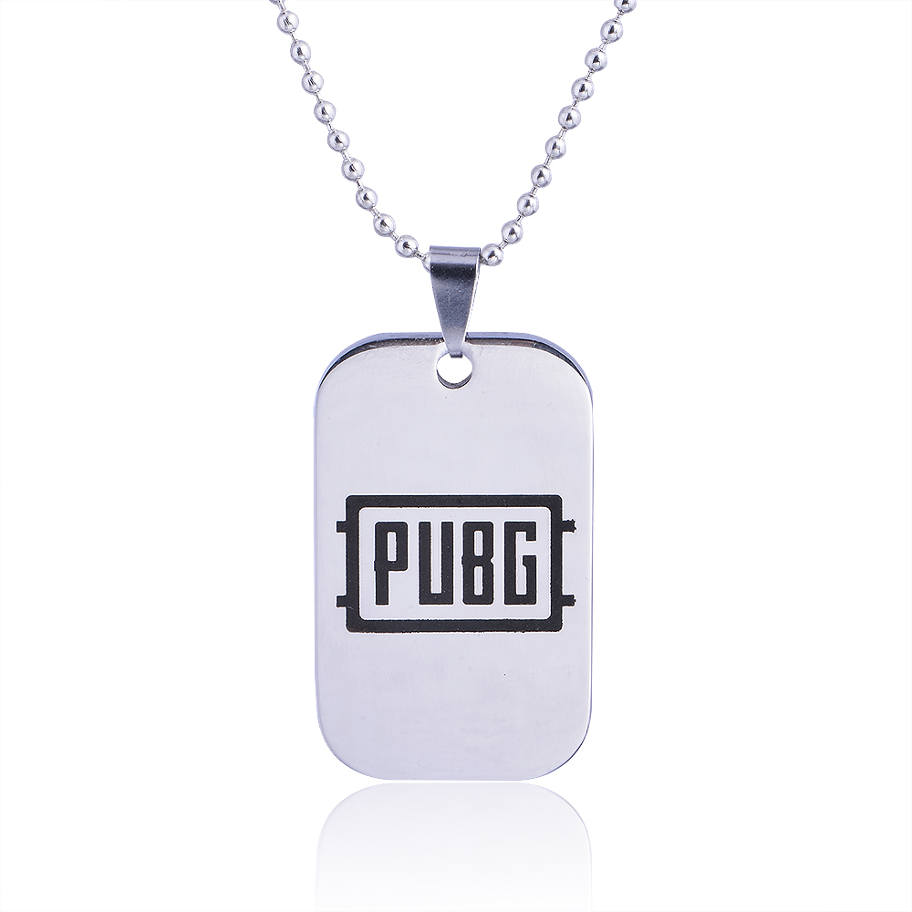 Classic Film Game Battlegrounds Cosplay Costumes Pans Weapon Model PUBG Pendant Necklace For Men