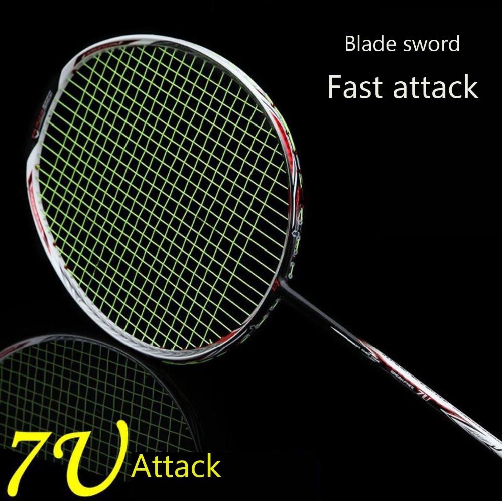 1pc Badminton Racket Super Light 7U 67g G6 Badminton racquet Full Carbon new arrival arc10 5u 77g super light badminton racket 100% carbon black white badminton racquet traning racket