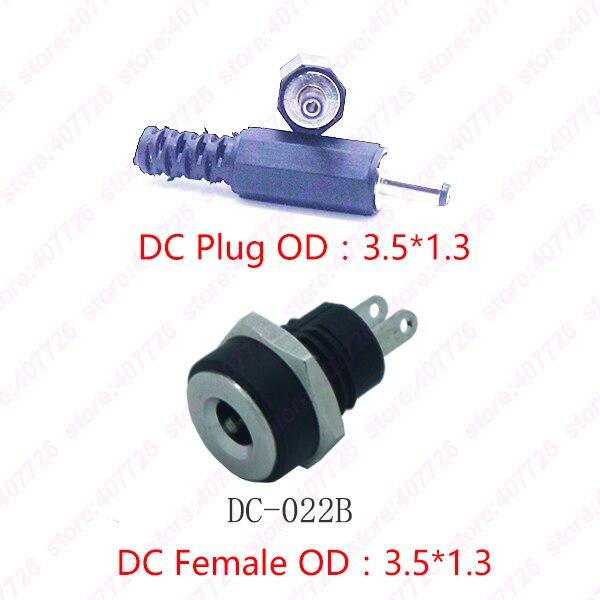 10PCS Pin1.3X3.5mm DC Power Jack Power Socket Terminal DC Connector With Screw Nut Welding DC-022B