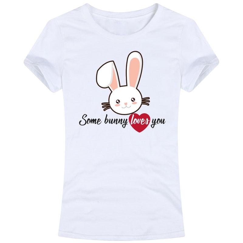 92205ffc9 Some Bunny Loves You Womens Female Ladies Slim Fit Sweet Tops Tees T shirt  rabbit kawaii heart romance pet love adorable animal