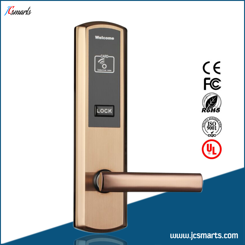 New stainless steel RFID hotel lock Swipe ID/IC Card key card door lock new automatic door closer mayitr household adjustable stainless steel hotel office surface mounted closing device for hardware