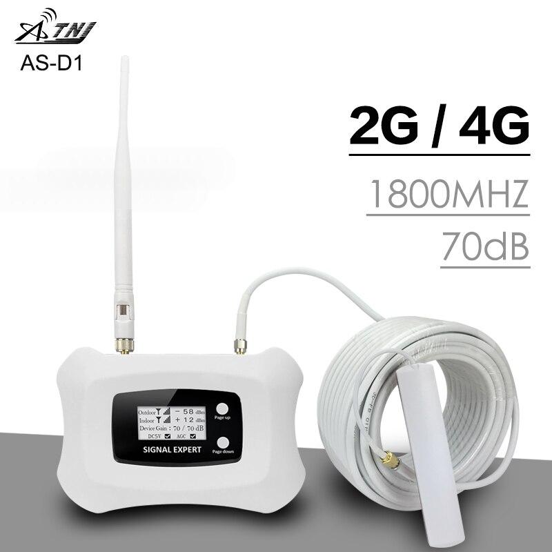 ATNJ DCS LTE 1800 mhz Signal Extender Stimuler Voix 2g 4g Internet Signal 70dB Gain Signal de Téléphone Cellulaire booster Répéteur Antenne Kit