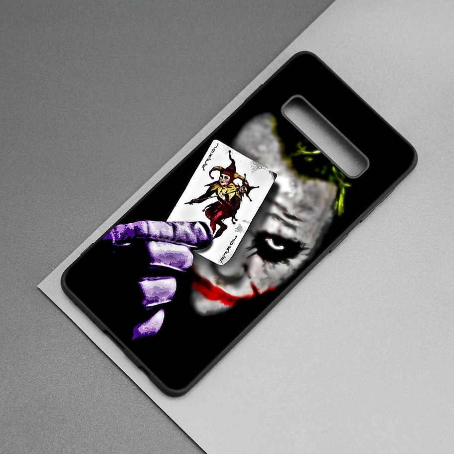 Batman Joker Dark Hiệp Sĩ Đen Silicone Trường Hợp đối Với Samsung Galaxy M20 S10e S10 S9 M10 S8 Cộng Với 5G S7 s6 Cạnh Bìa Coque