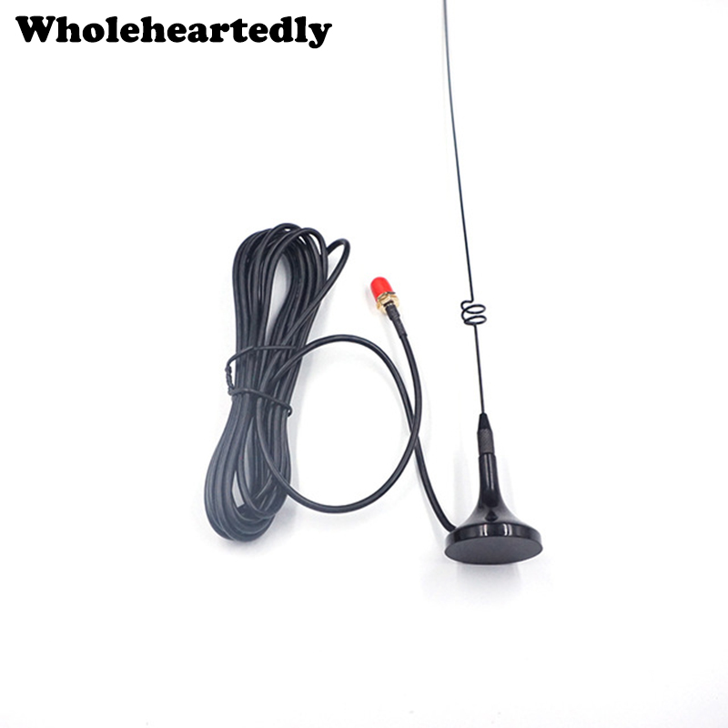 Hi-Q Two Cable Radio VHF UHF SMA Magnetic TV Antenna UT-108UV para BAOFENG Nagoya CB Radio Walkie Talkie UV-5R UV-B5 UV-B6 GT-3