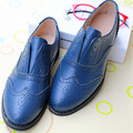 Fashion vintage handmade shoes brockden women's shoes genuine leather oxford shoes for women plus size33-45 small single shoes