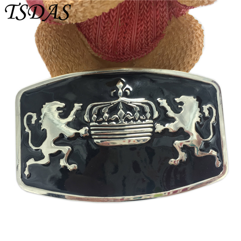 Men's Animal Belt Buckle in High Quality Lion Belt Buckle Head Metal For Men Jeans 100*63mm Buckle Head With Black Coating