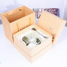 Ретро Европейский стиль эмалированные термостойкие стеклянные домашние чашки для чая детские подарки на день рождения