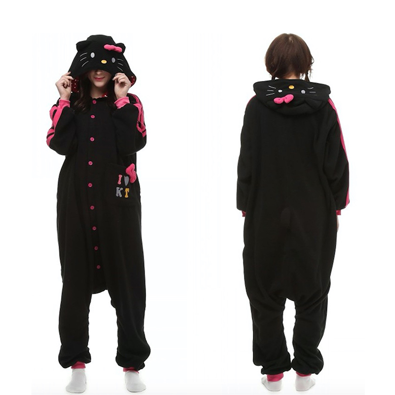 c5115a1423 Detail Feedback Questions about Women Girls Xmas Party Costume Kawaii Cute  Black Kitty Cat Pajamas Onesie Cosplay Costume Unisex Adult One piece  Sleepwear ...