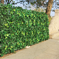 Artificial hedge folhas plantas falso hera parede 10