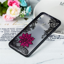 For Xiaomi Redmi 6 Pro Case TPU +PC Lace Rose Floral Flower Anti-knock Cover