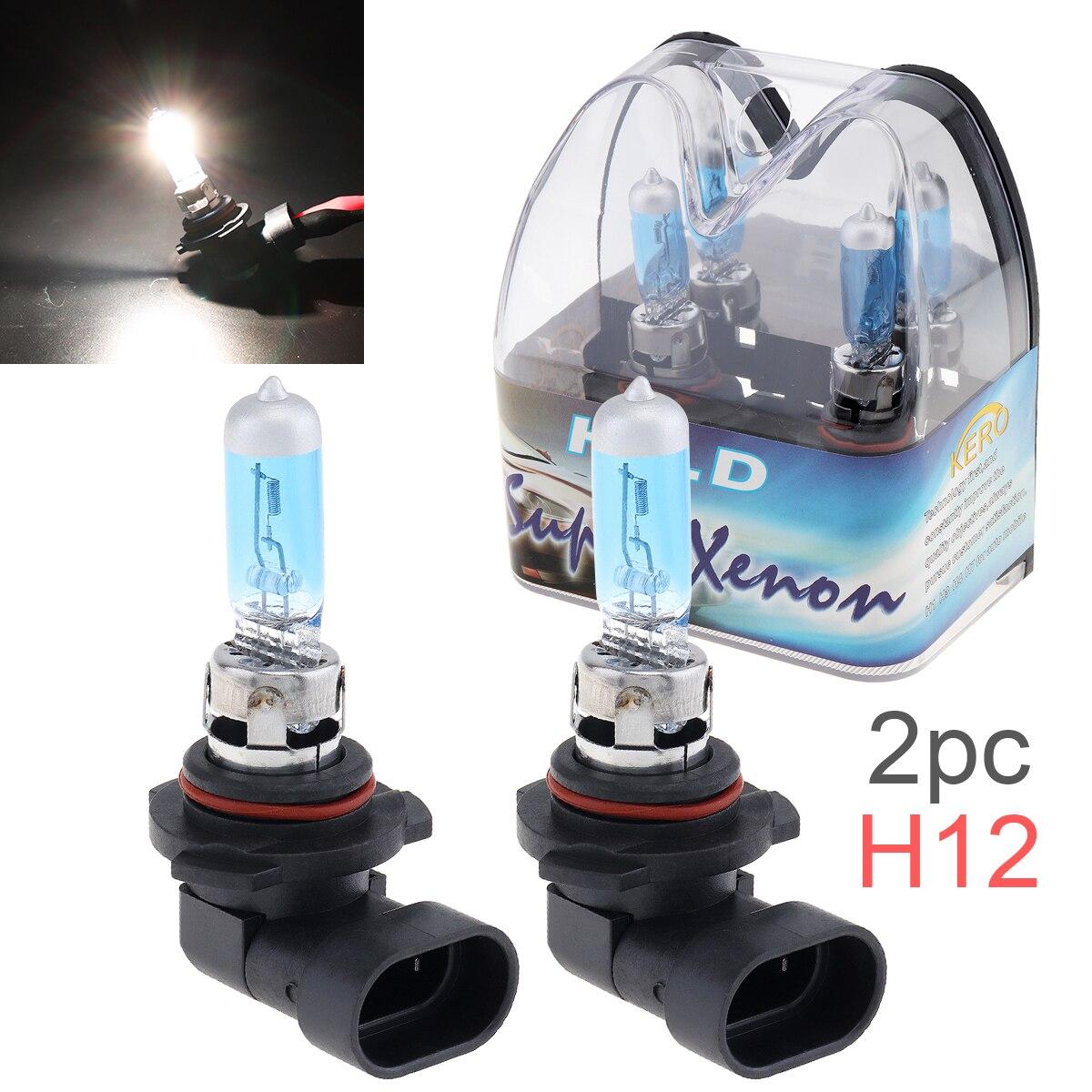 2 шт., Ксеноновые галогенные лампы 12 В H12 53 Вт 6000 К