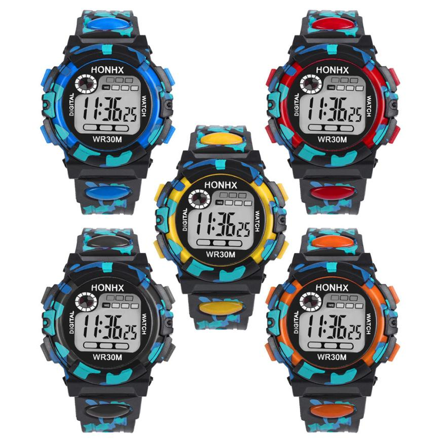 Children's Watch Kids Child Boy Girl Multifunction Waterproof Sports Electronic Watch Watches drop shipping               jun26