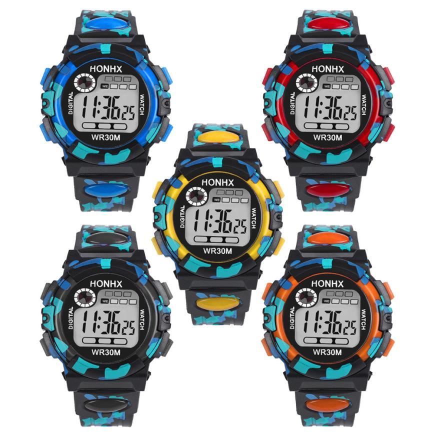 Children's Watch Kids Child Boy Girl Multifunction Waterproof Sports Electronic Watch Watches drop shipping               jun26