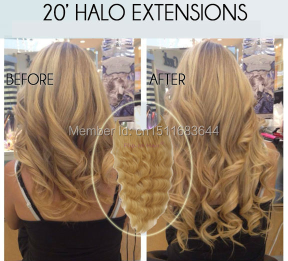 1pc Grade 7A Body Wave Brazilian Hair Flip In Extensions All Colors Halo On Aliexpress