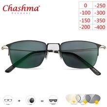 Myopia Sunglasses Photochromic Finished Men Women Eyeglasses Frame with color Lens Sun glasses Eyewear Titanium