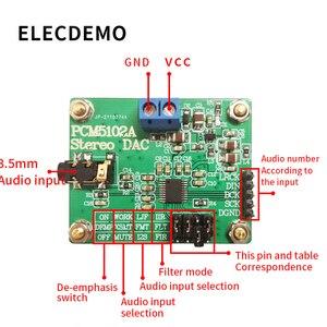 Image 2 - PCM5102A Modulo Audio Digitale I2S IIS Stereo DCA Modulo scheda di Decodifica Digitale ad Analogico Convertitore Audio consiglio