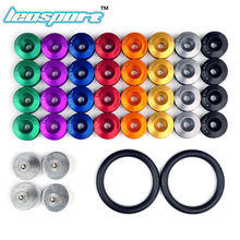 Leosport- JDM Style Aluminum Bumper Quick Release Fasteners Fender Washers For Honda Civic Integra And Universal Car with Logo