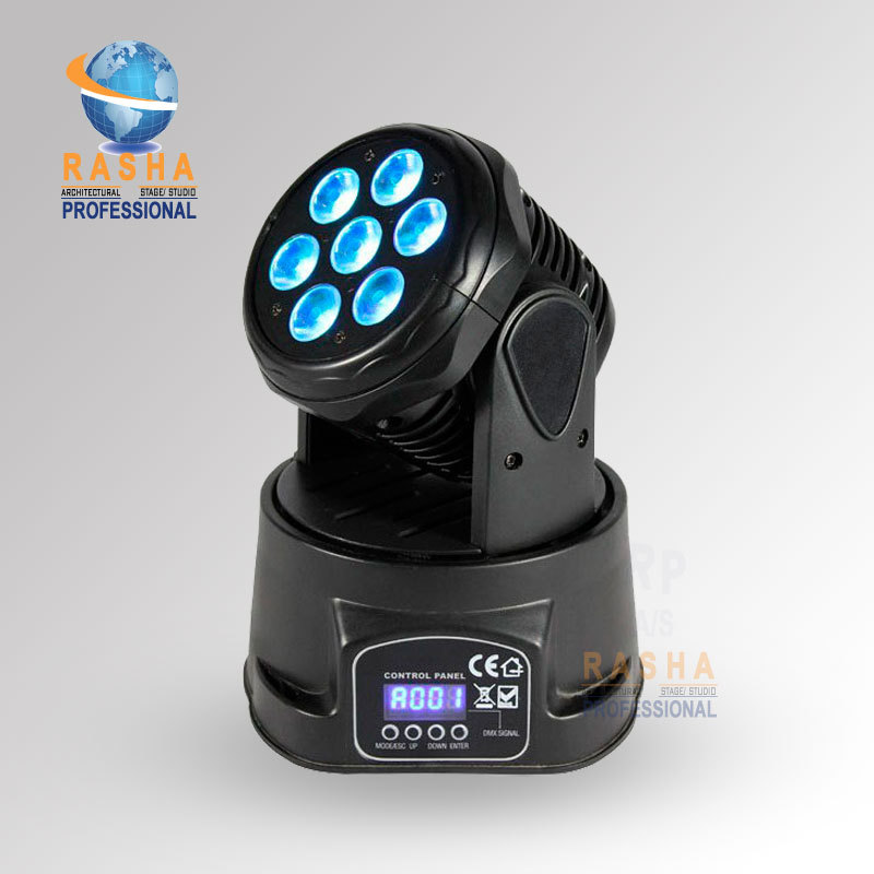 Factory Price-Freeshipping 7pcs*10W 4IN1 RGBW MINI LED Moving Head Wash Light,Wash Light,LED Moving Head For Event,Disco Party