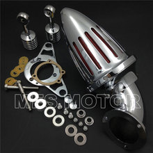купить Chrome Air Cleaner kits for Harley Softail Fat Boy Dyna Street Bob Wide Glide Motorcycle Accessories онлайн
