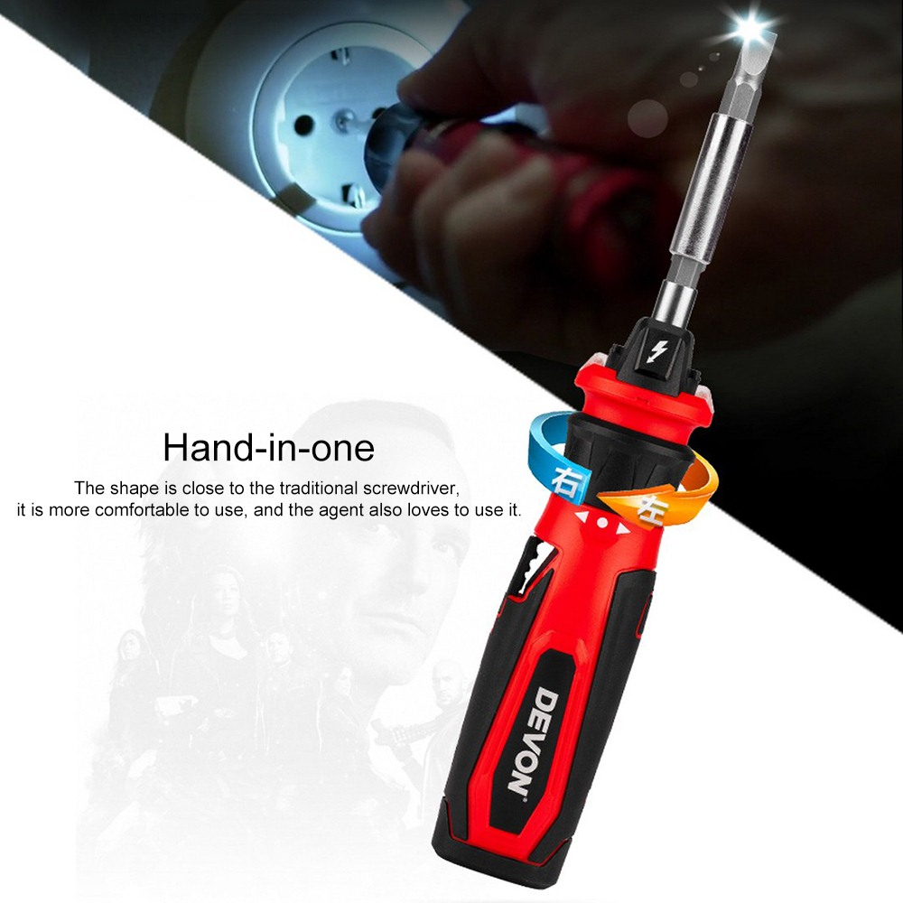 LED Electric Screwdriver Set Lithium-ion Rechargeable Household Multi-function Screwdriver Mini Electric Batch Hand Power Tools
