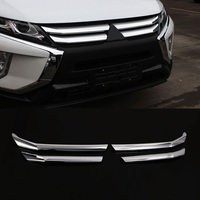 4 unids/set ABS cromado cabeza delantera rejilla de admisión de aire decoración de embellecedor superior accesorio de coche apto para Mitsubishi Eclipse Cross 2018 2019