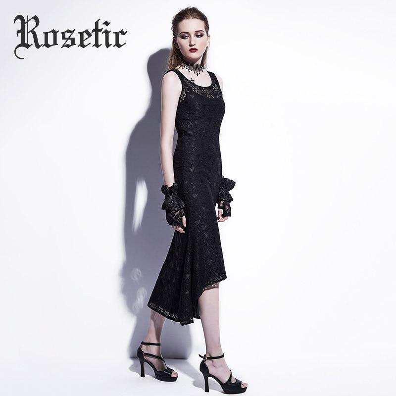 73a0df30005 Roosiline gothic Maxi merineitsi kleit must seksikas pits ...