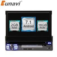 Eunavi 2GB Android 6 0 Universal Single 1 DIN 7 Car Radio Stereo Quad Core Head