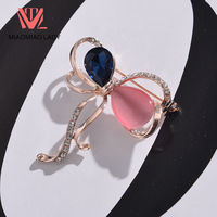 MIAOMIAO LADY Discounts Vintage Couple Opals Clothing Broach Pin Maxi Women Crystal Cool Gifts Women Hat Brooches Needle XZ016