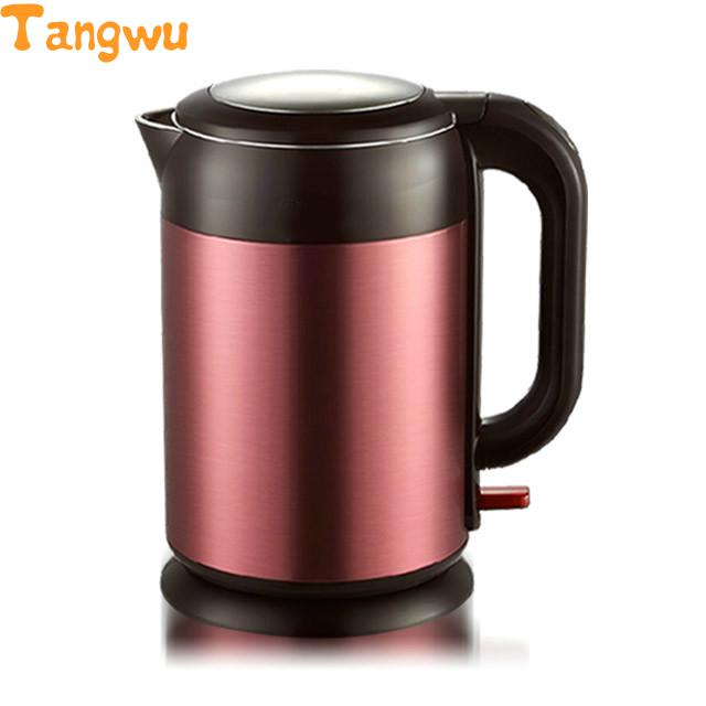 Free shipping Electric kettle automatic power off double layer heat insulation 304 stainless steel