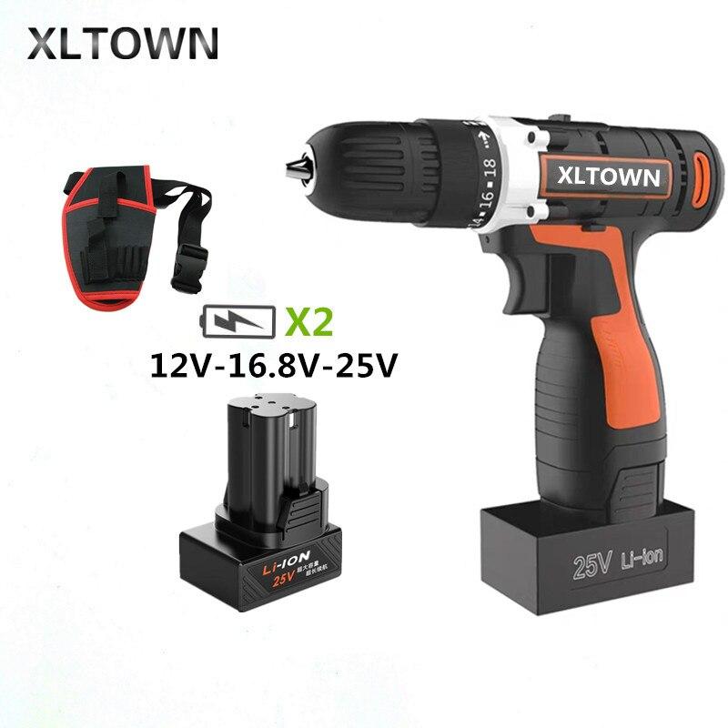 XLTOWN 25 V perceuse électrique multi-fonction tournevis électrique lithium rechargeable tournevis électrique outil électrique domestique