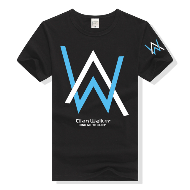 44d088a03 Alan Walker T Shirt Men Women Tshirt Clothing Unisex Short Sleeve T-Shirt  Music Fade