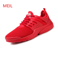 Branded Man Trainers for Summer Breathable Shoes Mesh 2019 Fashion Lace Up Sneakers Homme Outdoor Men Comfortable Casual