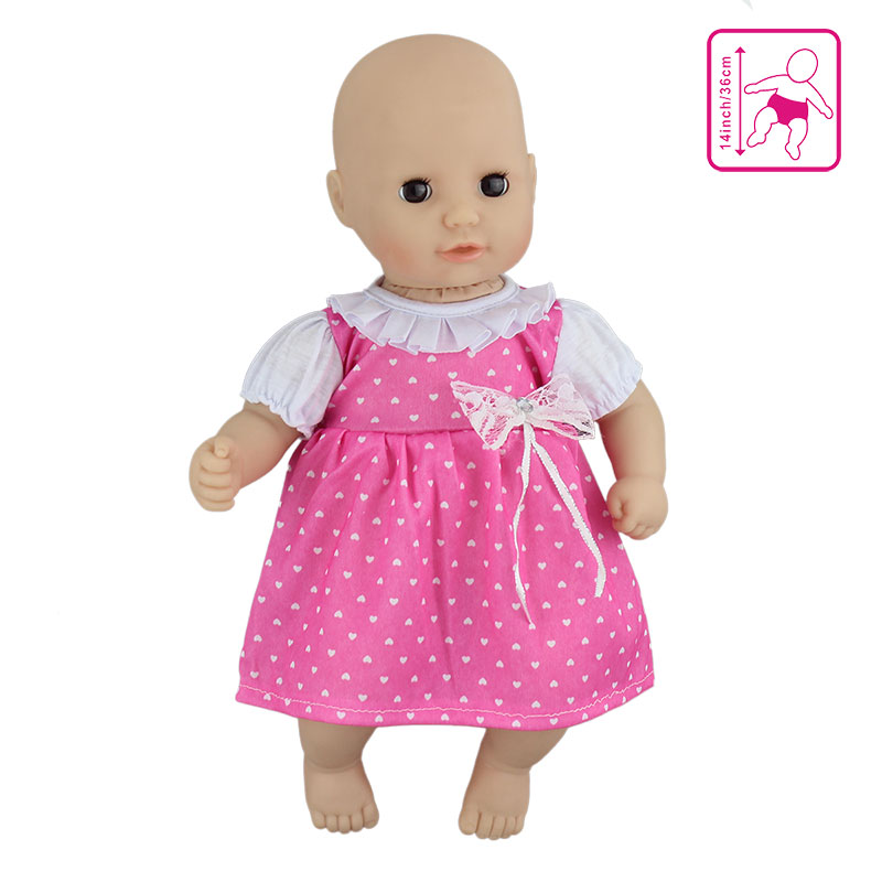 New Lovely Dress Doll Clothes Wear Fit For 36cm Doll, 14 Inch Dolls Clothes Children Best Birthday Gift