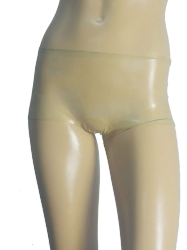 Sexy transparent latex women briefs unique rubber shorts underwear club wear for sale online