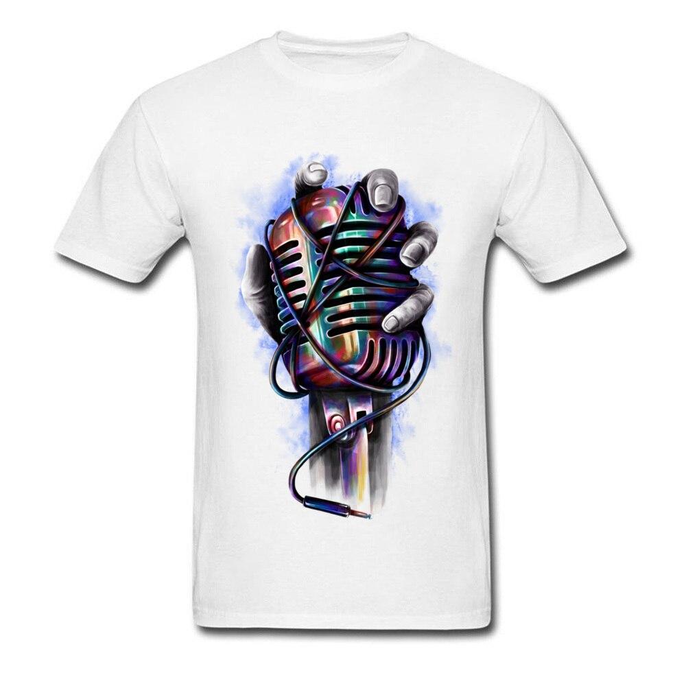 online retailer 7cbf5 afbeb T-Shirt moderne musique Microphone