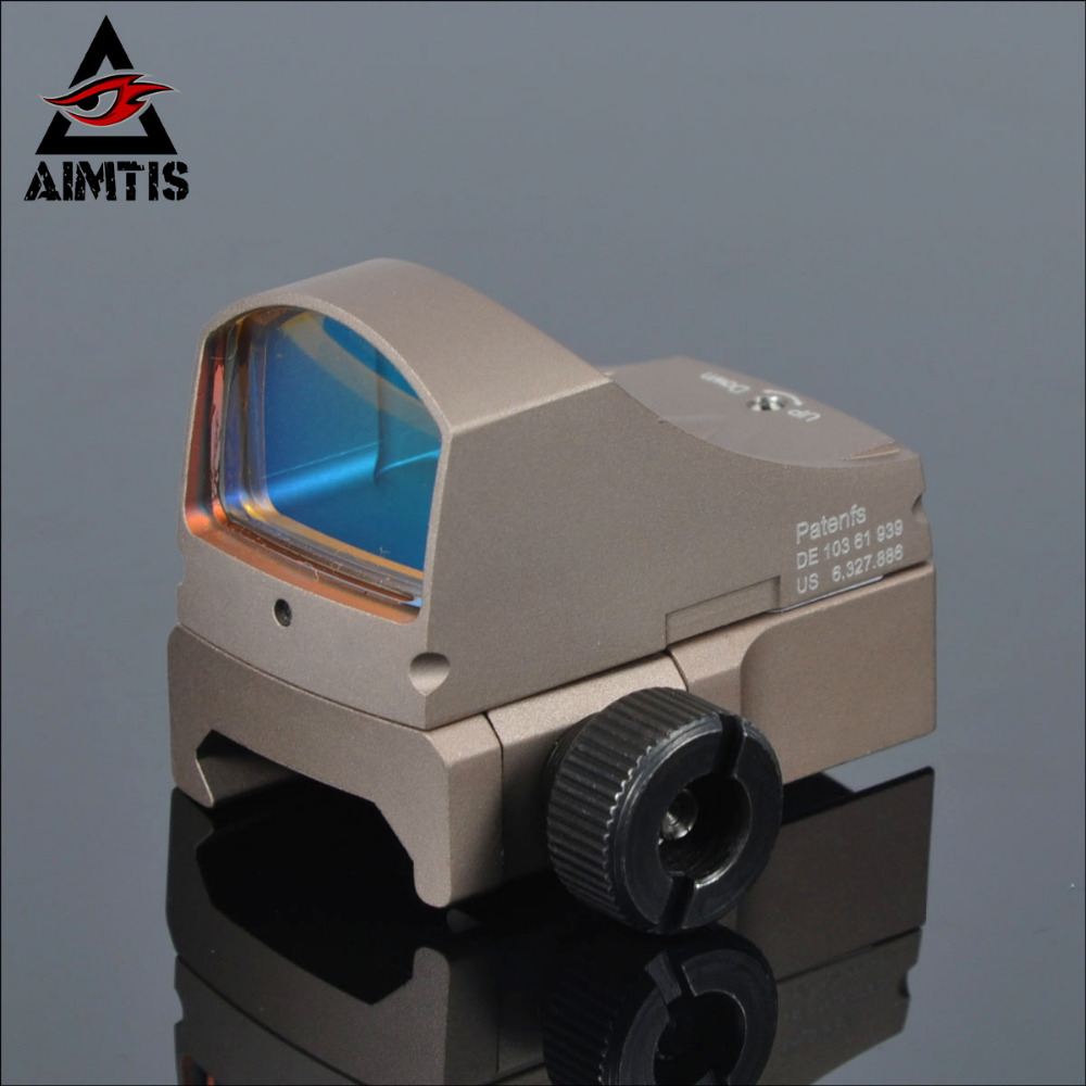 ФОТО AIMTIS DOCTER Automatic illuminate Tactical Reflex Red Dot Sight For Airsoft Hunting Rifle Scope with 20mm Mount and GLOCK Mount