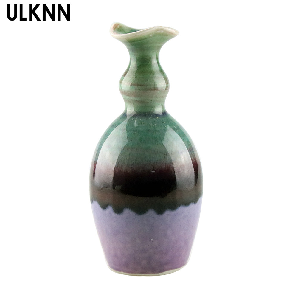 ULKNN Chinese Modern StyleCeramic Vase Home Decoration Tabletop Vase Ceramic Crafts Small Vase