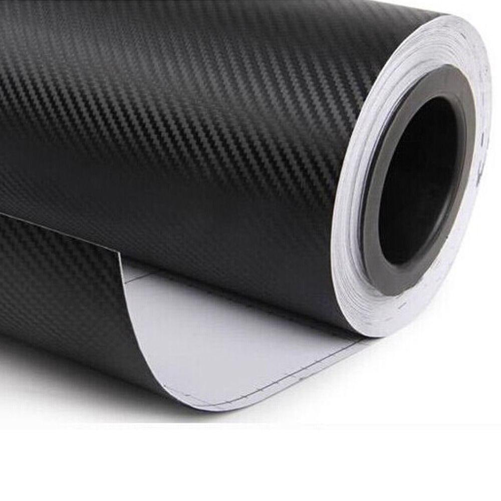 600 cm x 80 cm 3D Fiber de carbone vinyle Film feuille Wrap Roll 3 M voiture autocollants étanche bricolage décor moto voiture style accessoires