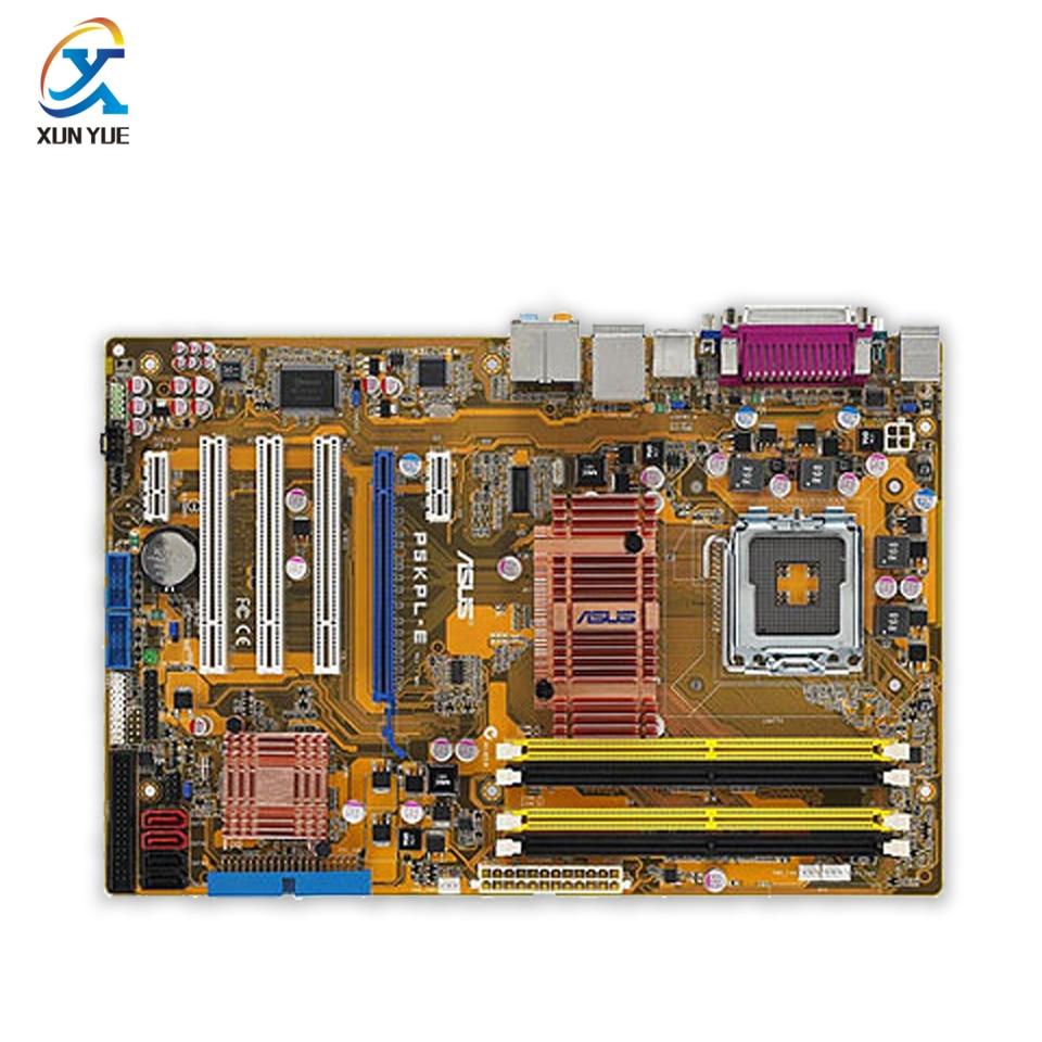 Asus P5KPL-E Original Used Desktop Motherboard G31 Socket LGA 775 DDR2 4G SATA2 ATX asus original motherboard g31m s2l g31 ddr2 lga 775 motherboard