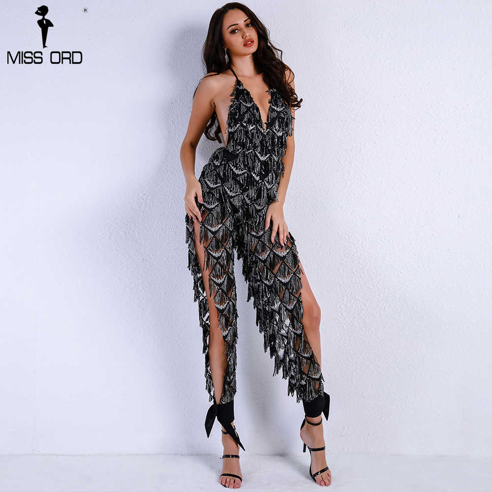 top fashion top-rated authentic online shop Missord 2019 Women Sexy Off Shoulder Deep V Sequin Rompers ...