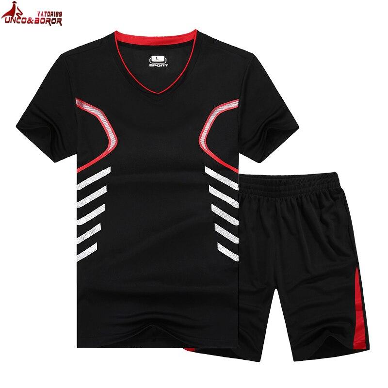UNCO & BOROR, большие размеры 6XL, 7XL, 8XL, 9 XLmen, летняя быстросохнущая короткая футболка, спортивный костюм, верхняя одежда, спортивный костюм с принт...