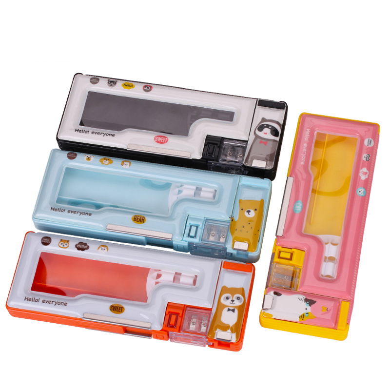 1pc Multifunction Pencil Case Creative Cute Children Student Gift Awards Boys and Girls Pen Case School Supplies Stationery mp3 player built in speaker metal lossless sound audio music player with fm radio hd video player support sd card up to 64gb