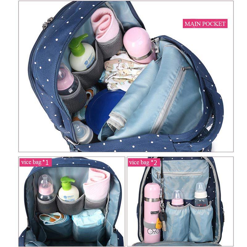 Bolsa de pañales multifunción para la madre Cochecito de bebé - Pañales y entrenamiento para ir al baño - foto 2