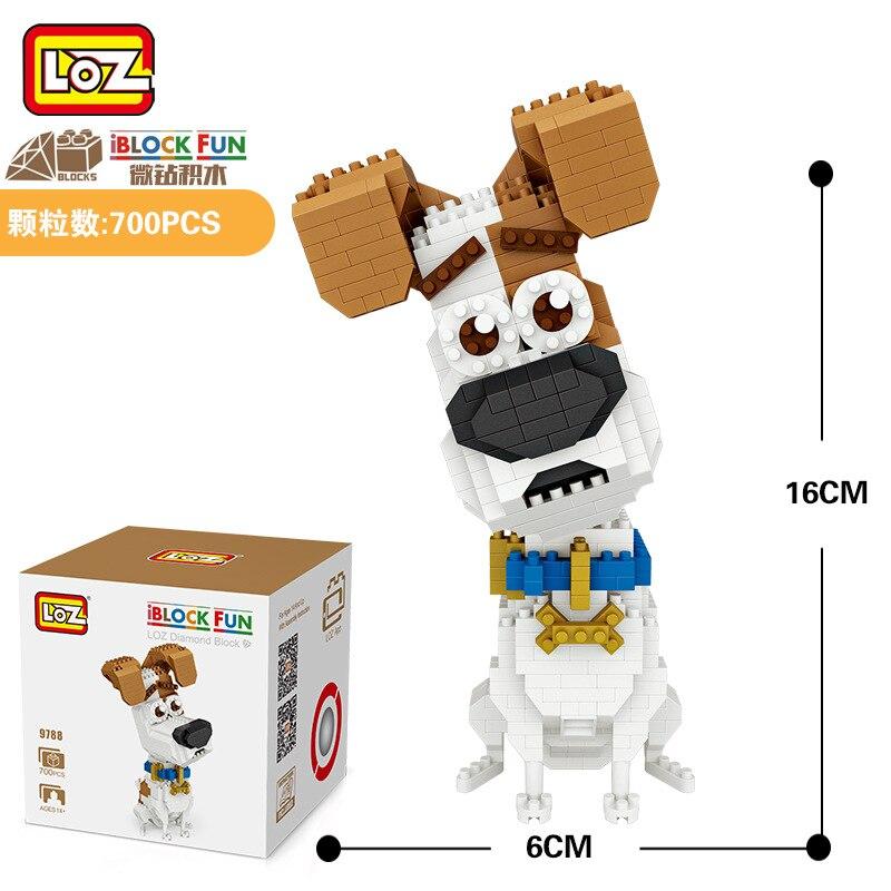 LOZ Diamant Blocs Jack Russell Terrier Chien de Bande Dessinee Anime BRICOLAGE Blocs de construction Mignon Mini Figure Animale