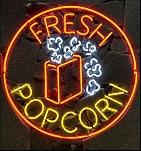 Fresh Pop Corn Glass Neon Light Sign Beer Bar